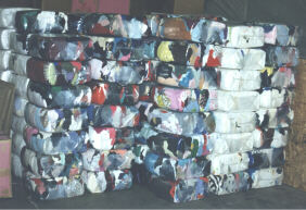 Bales of Used Clothing